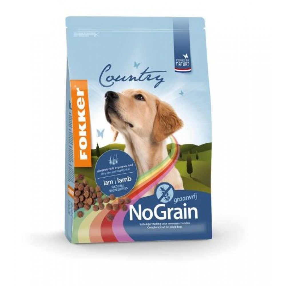 Сухой корм Fokker Dog Country No Grain для собак, беззерновой, 2,5кг
