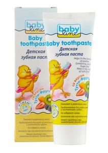 Зубная паста детская Тутти-Фрутти 2-6лет 75мл Babyline