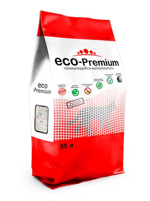 """Наполнитель комкующийся гигиенический """"Eco - Premium"""" 55 л."""