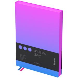 """Ежедневник недатир. A5, 136л., кожзам, Berlingo """"Radiance"""", розовый/голубой градиент"""
