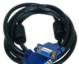 Кабель удлинительный монитор - SVGA card (15M -15F)  1.8м  2 фильтра, нетоварный вид