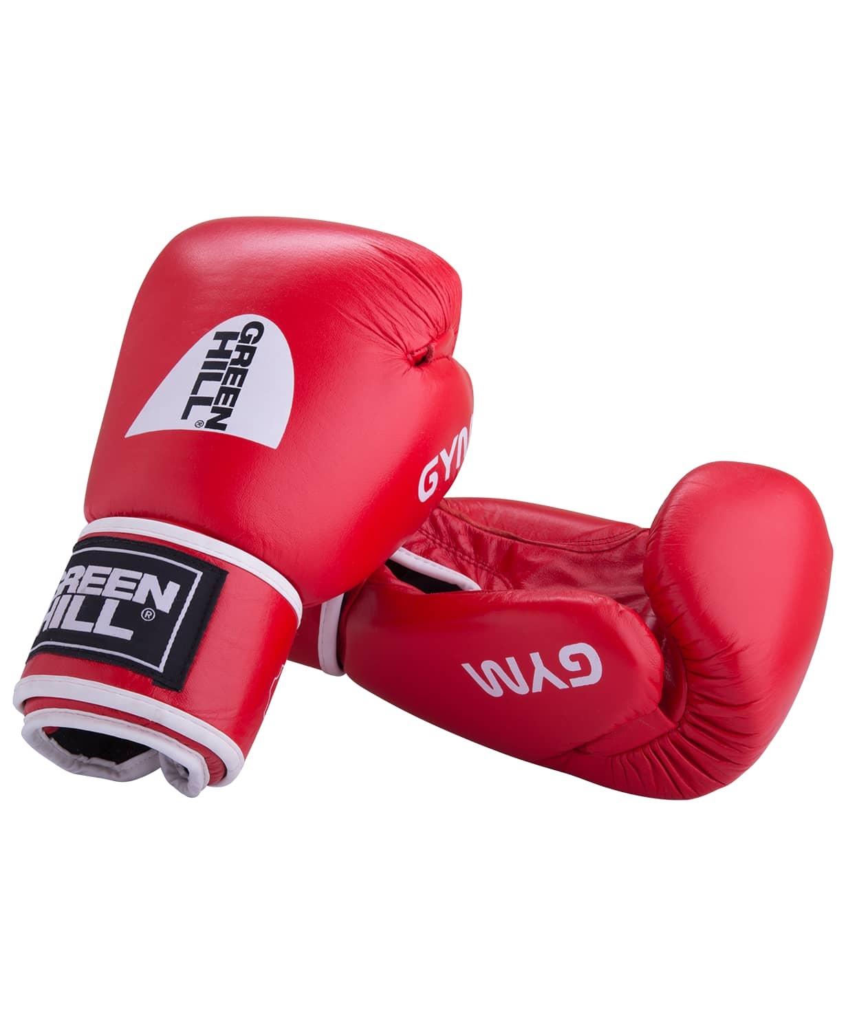 Перчатки боксерские GYM BGG-2018, 12oz, кожа, красные