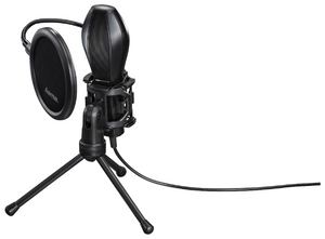 Микрофон проводной Hama Stream 2м черный