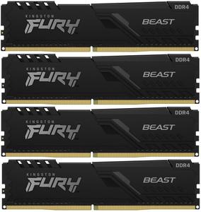 Оперативная память Kingston FURY Beast Black [KF432C16BBK4/16] 16 Гб DDR4