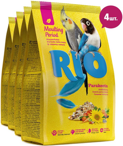 RIO / Корм для средних попугаев в период линьки 1 кг. ( 4 шт. в уп.)