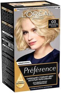 Краска для волос Preference 03 Светло-светло-русый пепел L'Oreal Paris
