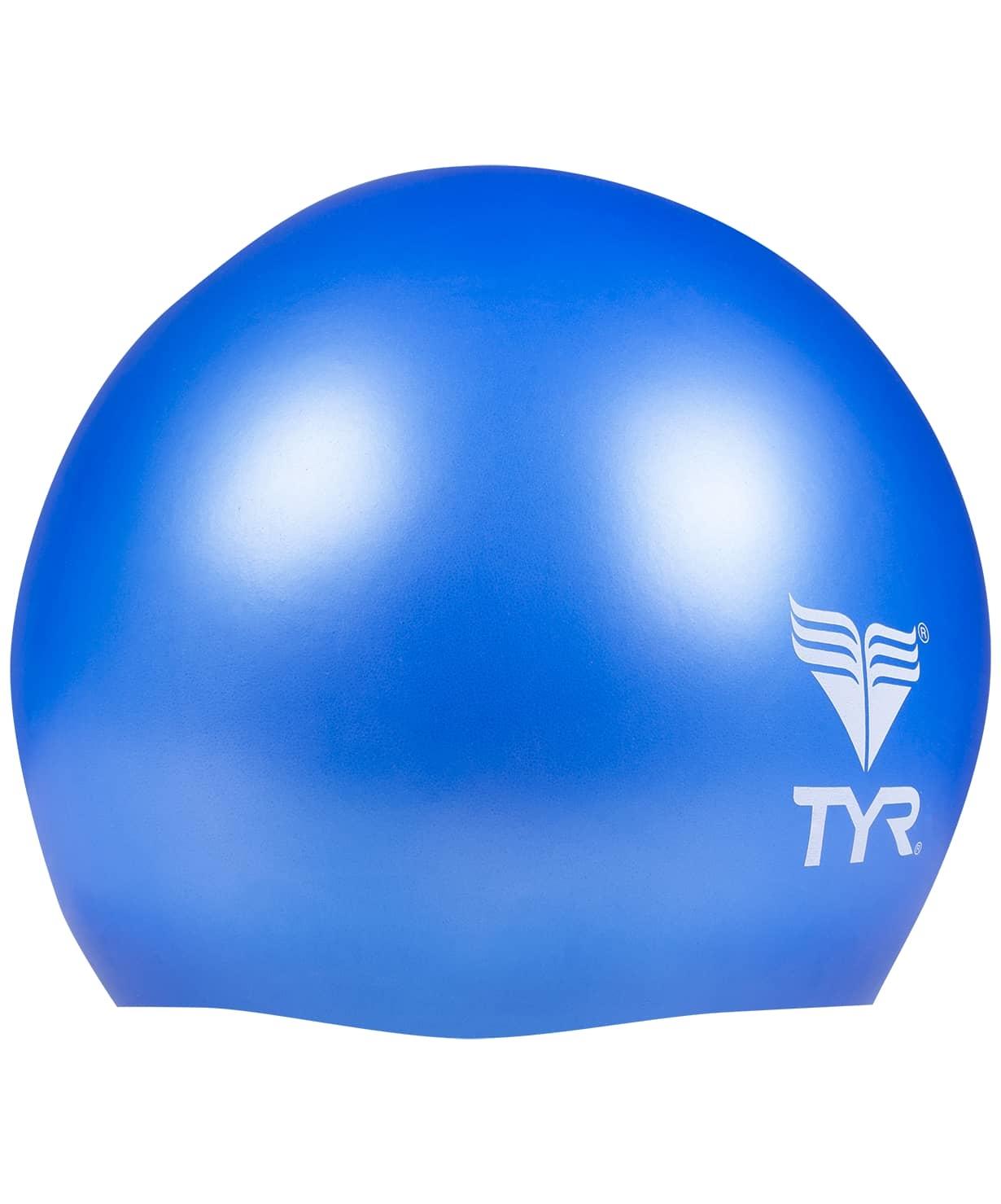 Шапочка плавательная Wrinkle Free Junior Silicone Cap, силикон, LCSJR/428, голубой