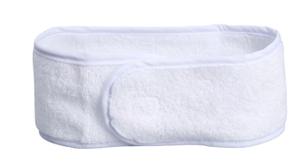 Повязка для волос на липучке Чистовье, махровая, 1 шт/уп, цвет белый