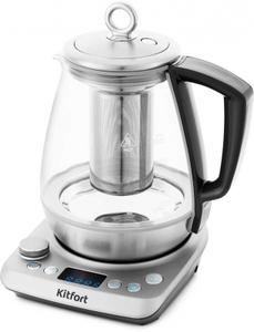 Чайник электрический Kitfort КТ-669 прозрачный