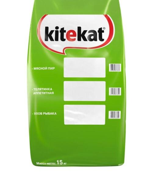 Сухой корм для кошек Kitekat улов рыбака, 15 кг.