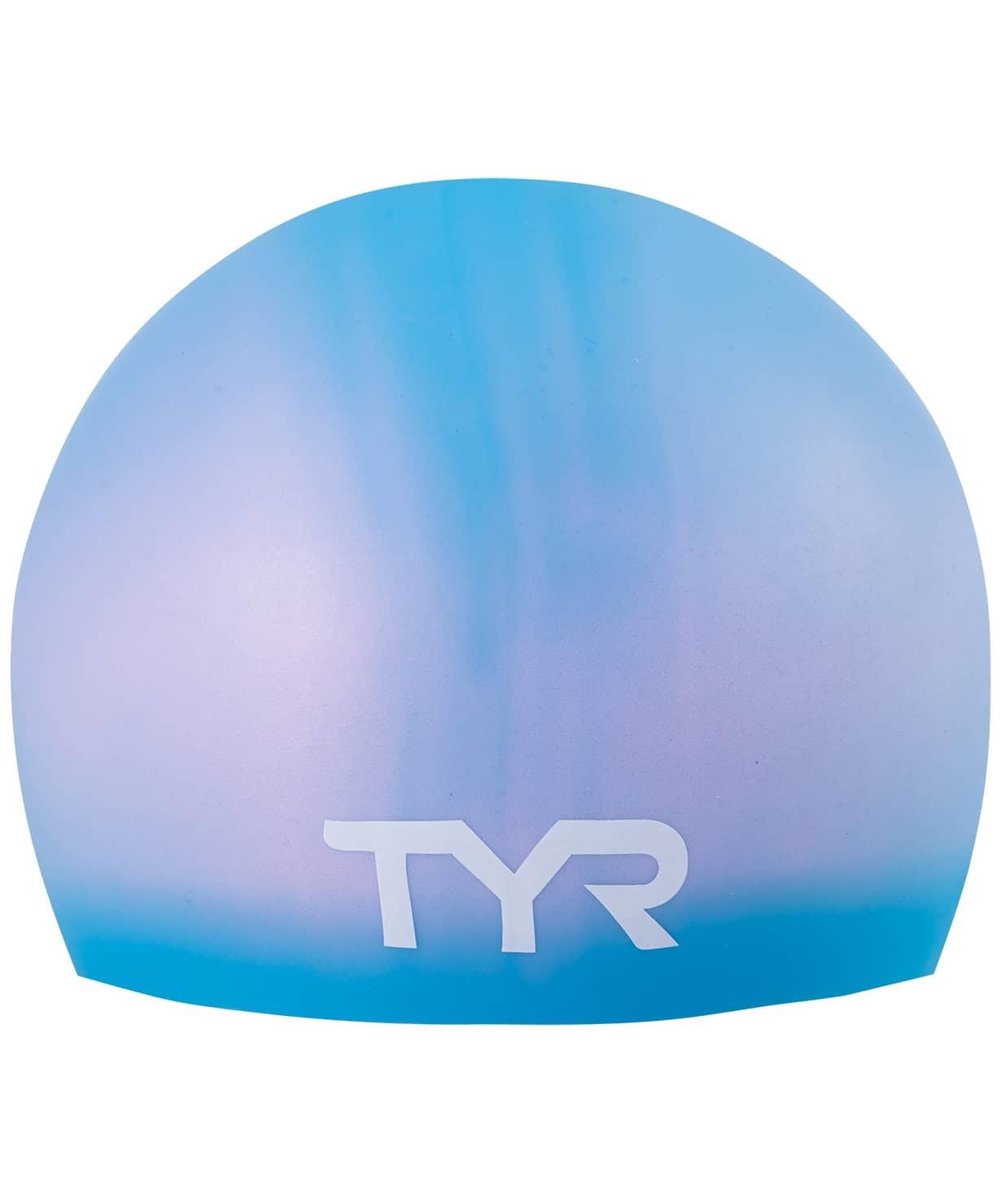 Шапочка для плавания Long Hair Wrinkle-Free Silicone Junior Cap, силикон,LCSJRL/420, голубой