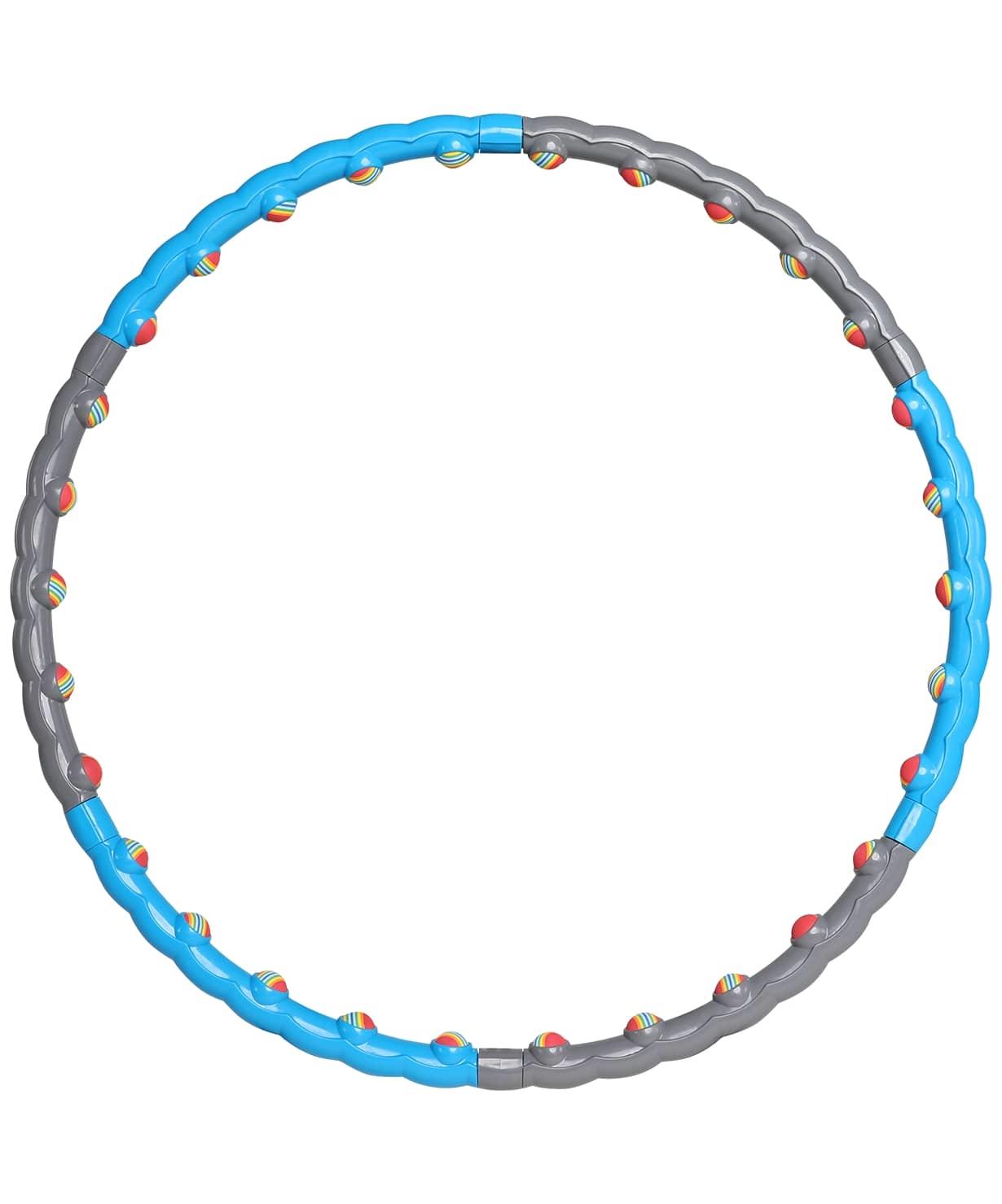 Обруч массажный разборный HH-108, синий/серый