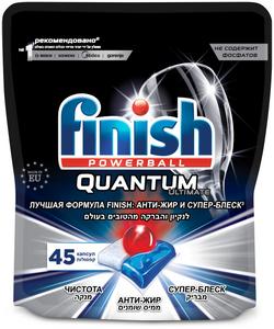Таблетки для посудомоечных машин Quantum Ultimate 45шт Finish