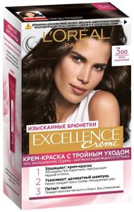 Крем-краска для волос Excellence 300 Темно-каштановый L'Oreal Paris