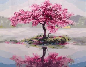 "Картина по номерам на холсте 40х50 ""Цветущее дерево"""