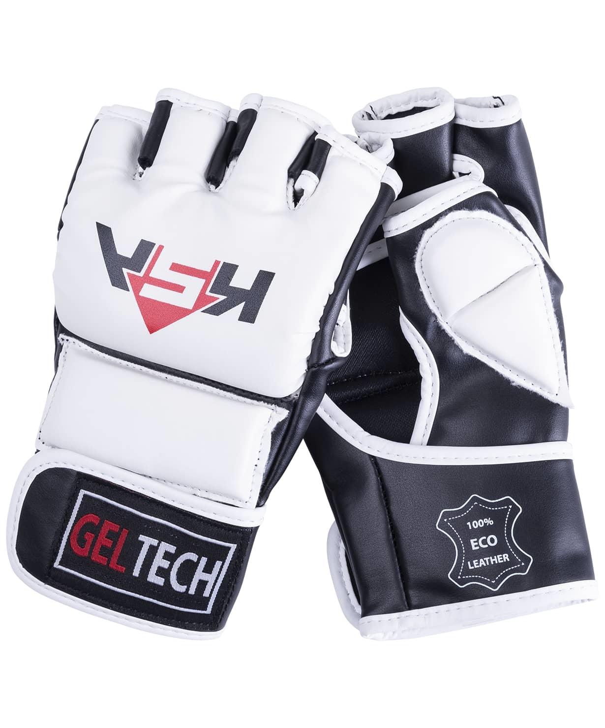 Перчатки для MMA Lion Gel White, к/з, L