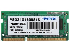 Оперативная память Patriot [PSD34G160081S] 4 Гб DDR3