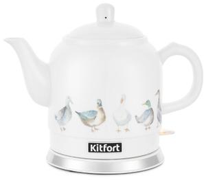 Чайник электрический Kitfort КТ-691-2 белый