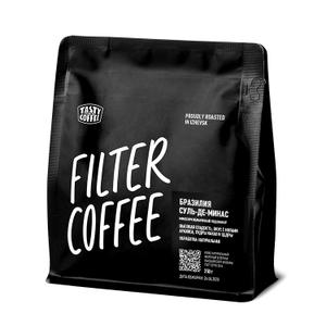 "Моносорт Tasty Coffee фильтр ""Бразилия Суль-де-Минас"" в зернах, 250 гр."