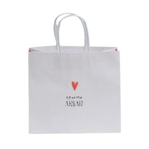 Пакет подарочный крафтовый «Просто люблю», 25 × 22 × 12 см