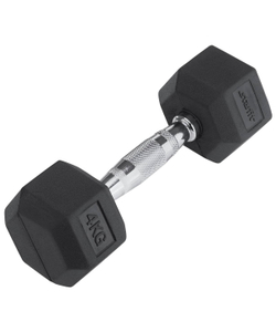Гантель обрезиненная STARFIT DB-301 4 кг, черная 1/4