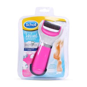 Электрическая роликовая пилка с роликом из бриллиантовой крошки (розовая) SCHOLL
