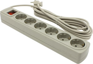 Сетевой фильтр Ippon BK-252 < White > < 5м > ( 6 розеток ) < 75109 >