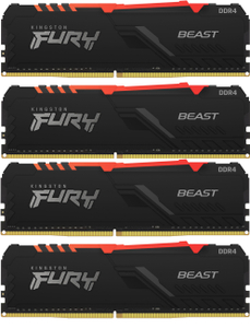 Оперативная память Kingston FURY Beast RGB [KF426C16BBAK4/32] 32 Гб DDR4