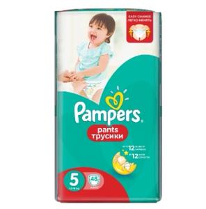 Подгузники-трусики Pants Junior (12-18 кг) Упаковка 48 PAMPERS