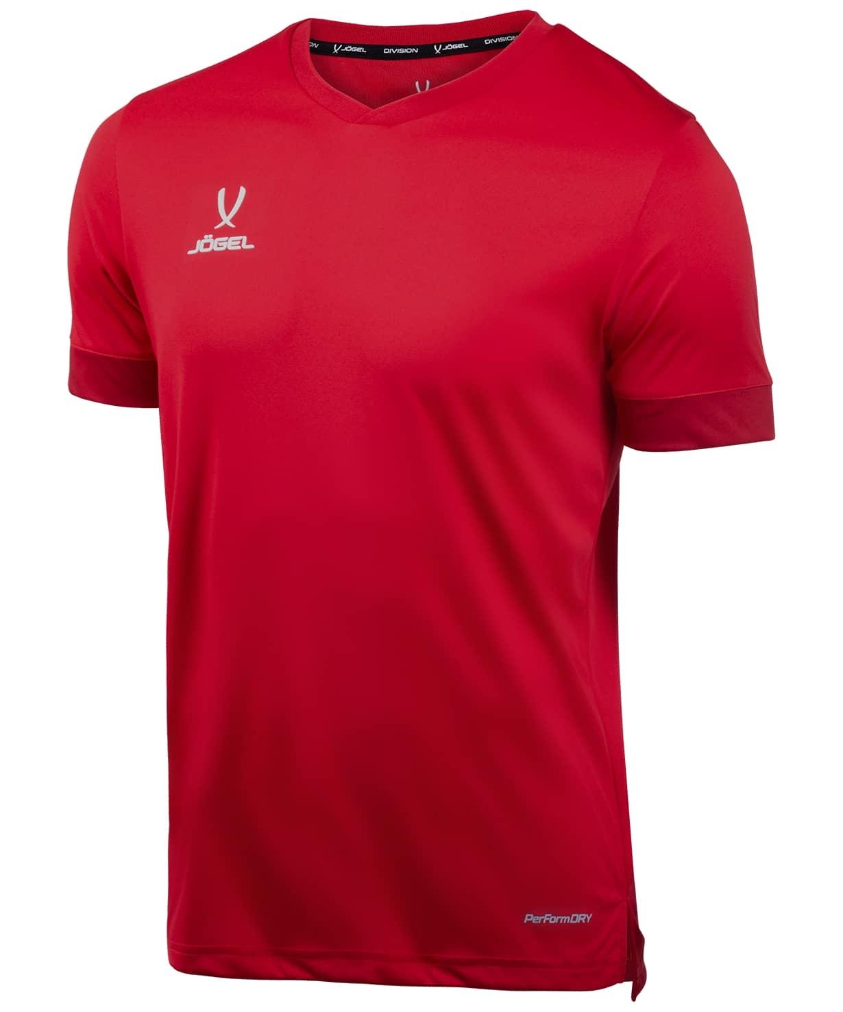 Футболкаигровая DIVISION PerFormDRY Union Jersey, красный/ темно-красный/белый, детская