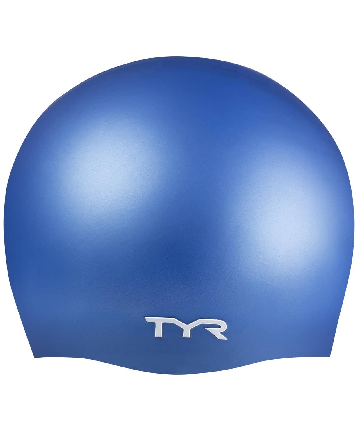 Шапочка для плавания Wrinkle Free Silicone Cap, силикон, LCS/420, голубой