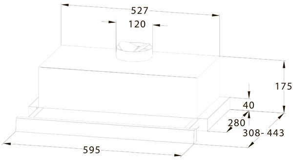 Вытяжка Midea MH60P303GI бежевый