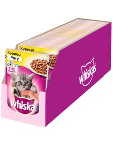 Влажный корм для котят Whiskas рагу с курицей, 85г ( 28 шт. в уп. )