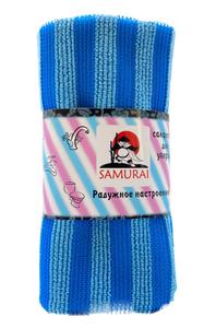 """Салфетка для уборки из микрофибры  """"Радужное настроение"""" 30*30 SAMURAI"""