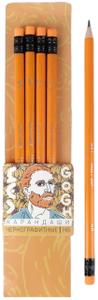 Набор карандашей Van Gogh, твердость НВ, 4 шт, цвет корпуса желтый