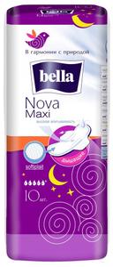 Прокладки гигиенические  NOVA Maxi softiplait air 10шт Белая Линия Bella