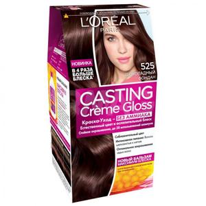 Краска-уход для волос Casting Creme Gloss 525 Шоколадный фондан L'Oreal Paris