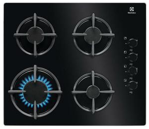 Газовая варочная панель Electrolux GPE264EK черный