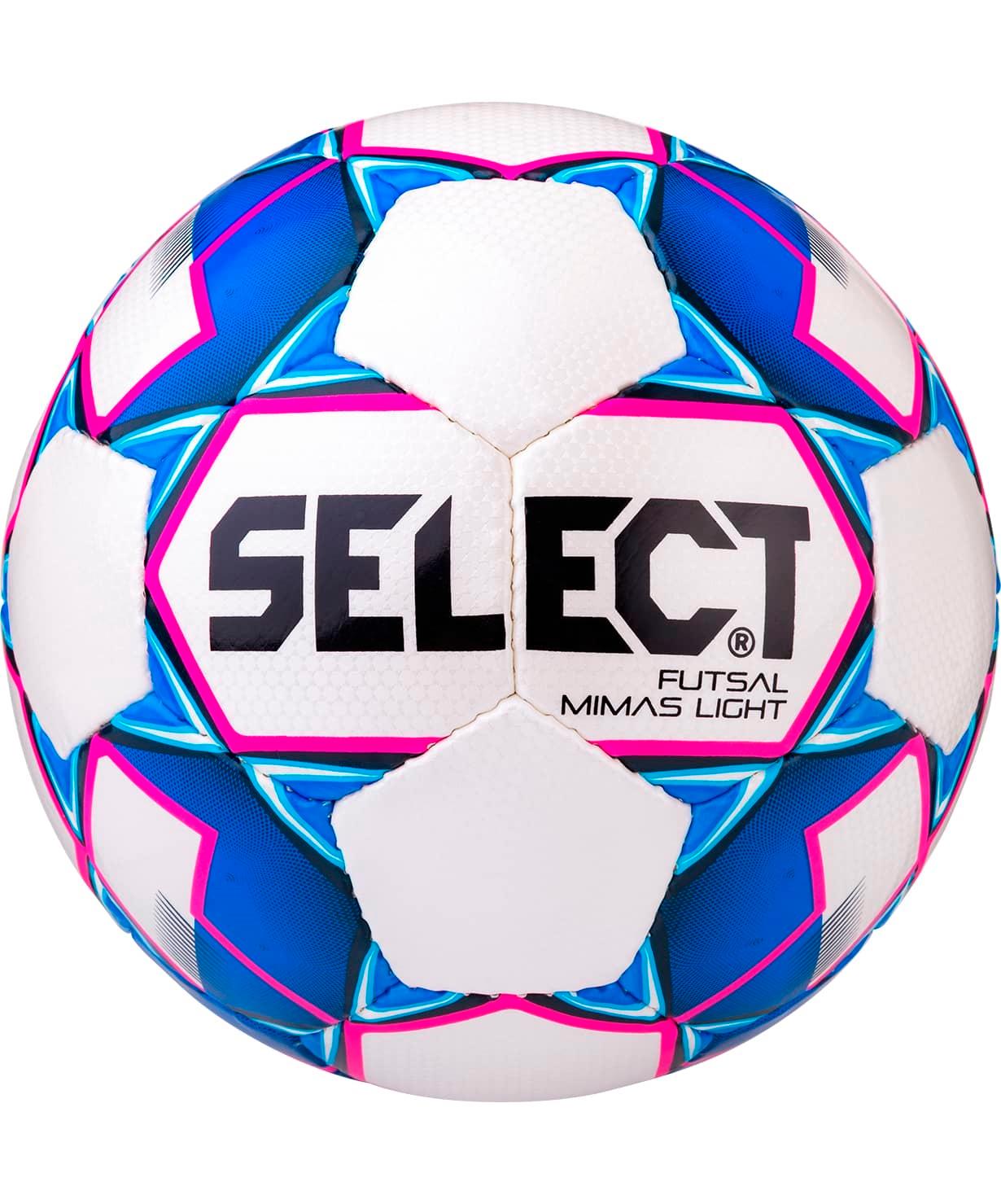 Мяч футзальный Futsal Mimas Light 852613, №4, белый/синий/розовый