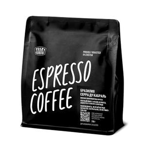 """Tasty Coffee, микролот эспрессо """"Бразилия Серра ду Кабраль"""", в зернах, 250 г"""