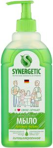 Мыло жидкое Луговые травы, биоразлагаемое, с дозатором, 500мл Synergetic