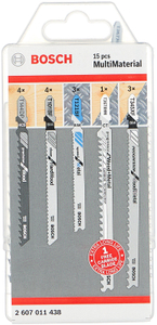 Набор пилок универсальные Bosch MultiMaterial 15пред. (лобзики)