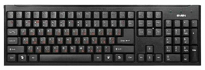 Клавиатура проводная Sven Standard 303 Power USB+PS/2 черный