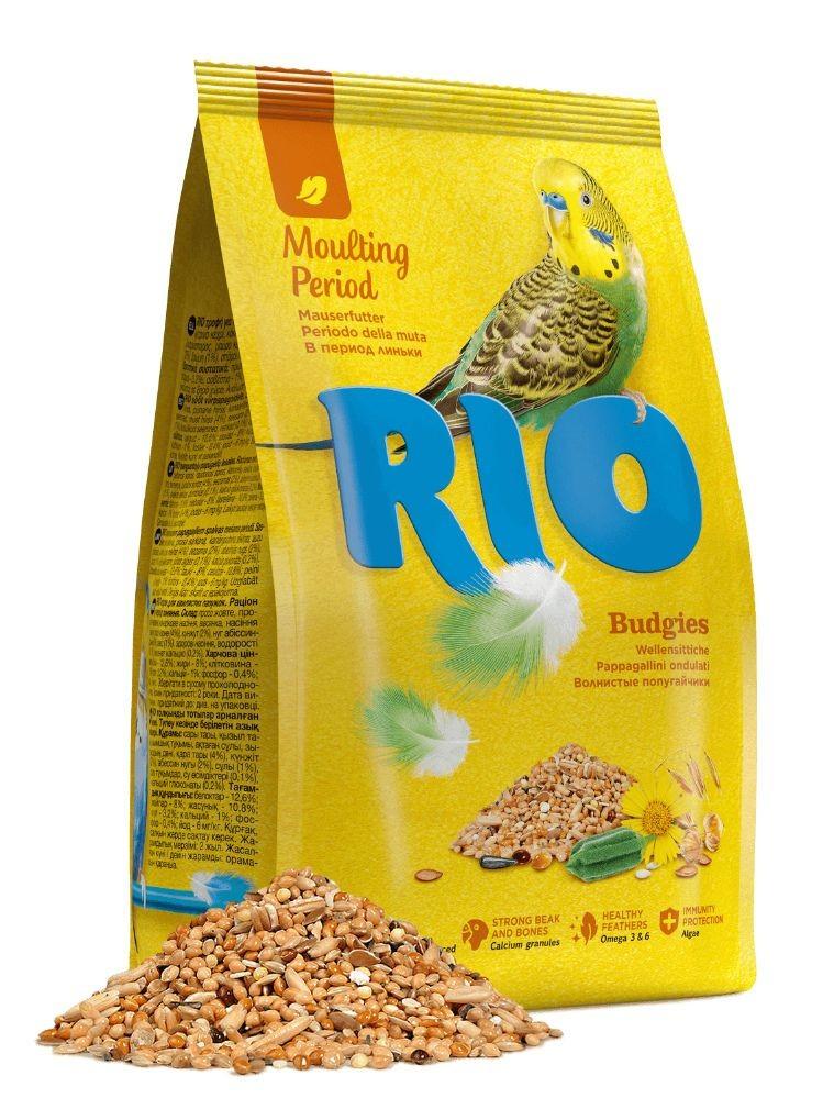RIO / Корм для волнистых попугайчиков в период линьки 1 кг ( 4 шт. в уп.)
