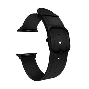 Кожаный ремешок для Apple Watch 42/44 mm LYAMBDA MINKAR DSP-03-44 Black
