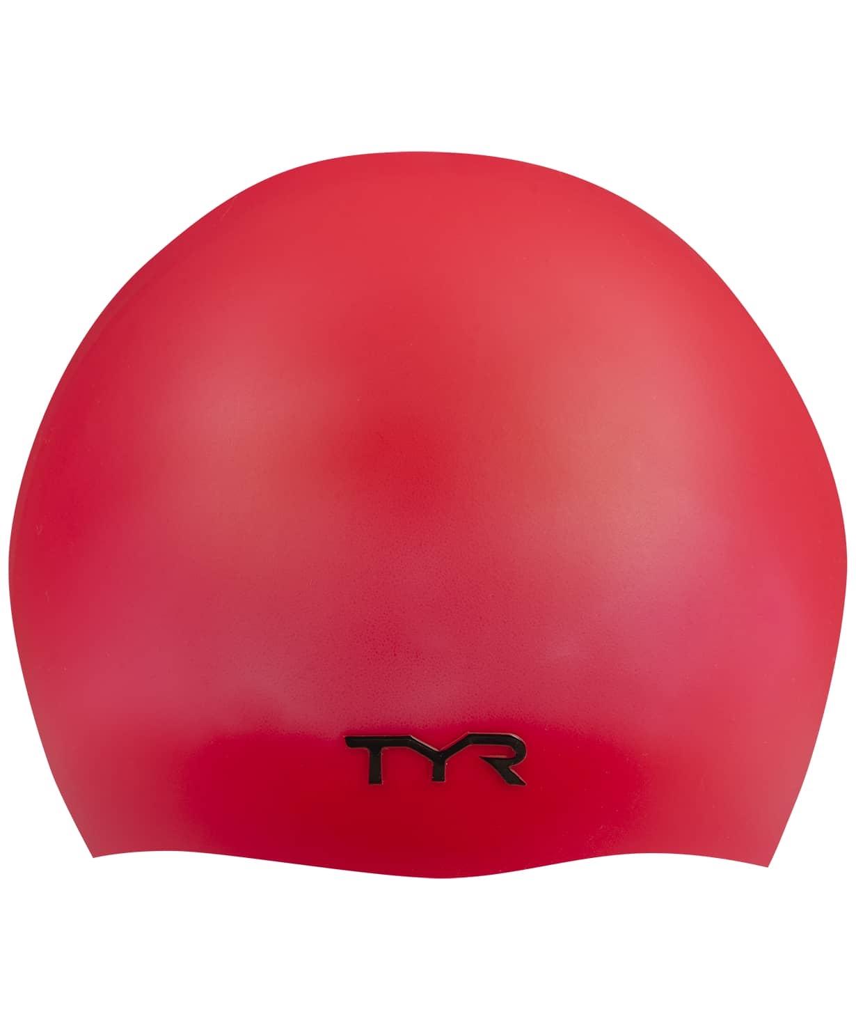 Шапочка для плавания Wrinkle Free Silicone Cap, силикон, LCS/610, красный