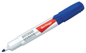 Маркер для белых досок синий, пулевидный, 2мм