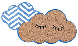Пробковая доска «Облачко с глазами», голубой, 19,6 х 19,8 см