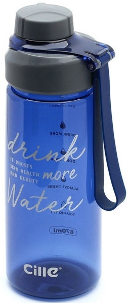 Бутылка для воды. Материал: пластик, силикон. Объём 670ml.