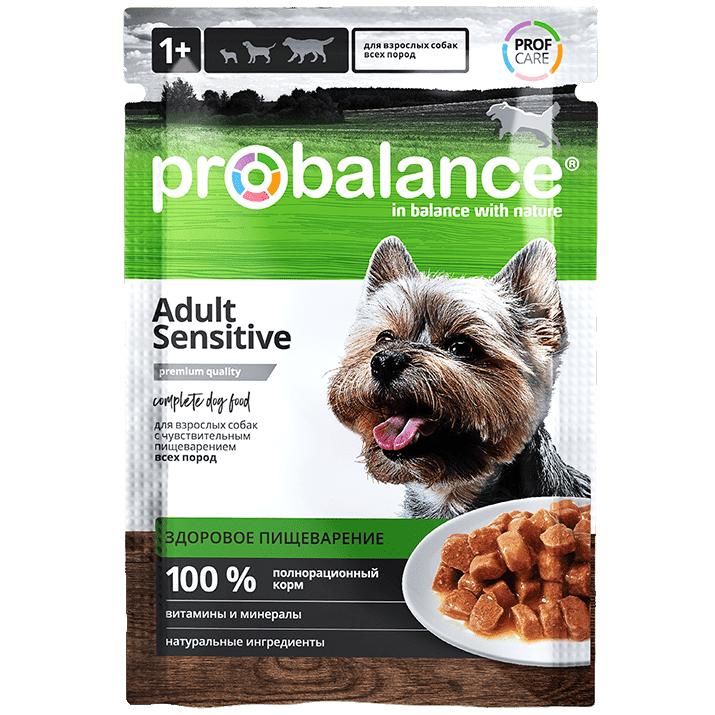 """Влажный корм для собак ProBalance """"Sensitive"""" при чувствительном пищеварении 25 шт. х 100 гр."""